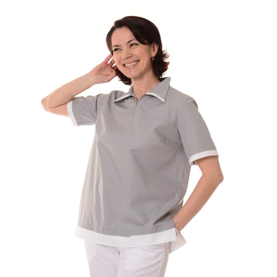 Womens-Tunics-for-Work-Puppis-Grey